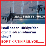 İsrail Suriye'yi vurdu …