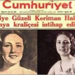 1932 Yılı Belçika Güzellik Yarışması Keriman halis