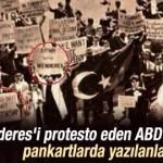 New York'ta Menderes karşıtı eylem fotoğrafı